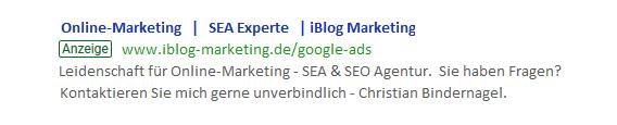 Textanzeige in Google Ads